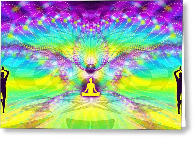 Cosmic Spiral Ascension 69 Greeting Card by Derek Gedney