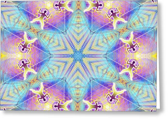 Cosmic Spiral Kaleidoscope 17 Greeting Card