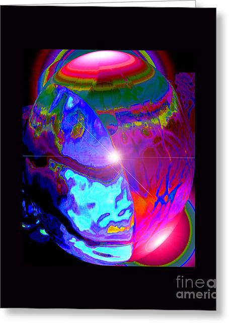 Cosmic Tectonics Greeting Card by Susanne Still