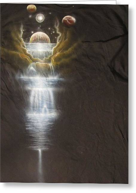Cosmic Tee Shirt Greeting Card by Sam Del Russi