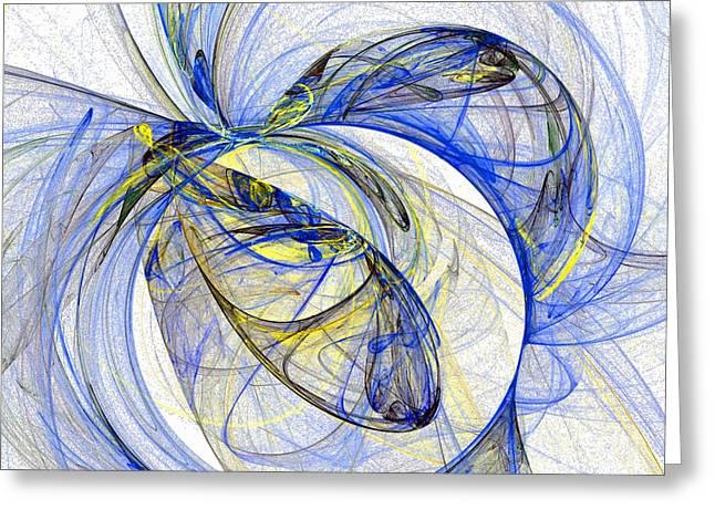 Cosmic Web 5 Greeting Card by Jeanne Liander