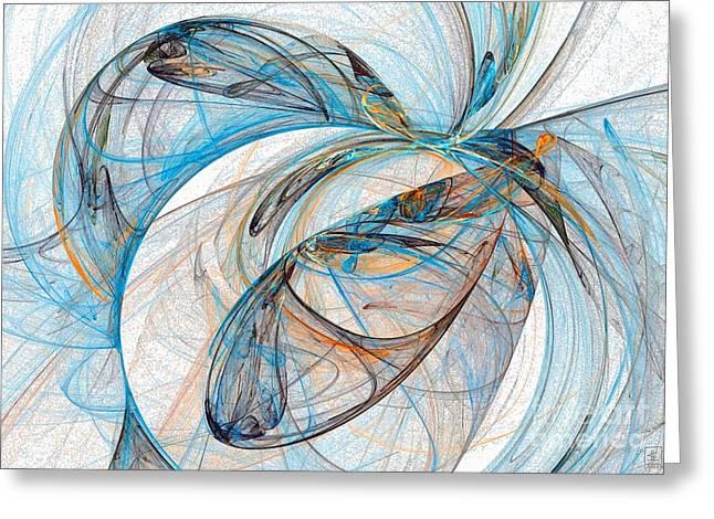 Cosmic Web 6 Greeting Card by Jeanne Liander