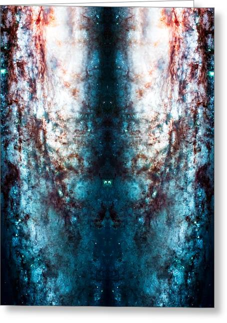 Cosmic Winter Greeting Card by Jennifer Rondinelli Reilly - Fine Art Photography