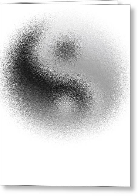 Cosmic Yin Yang Greeting Card by Daniel Hagerman