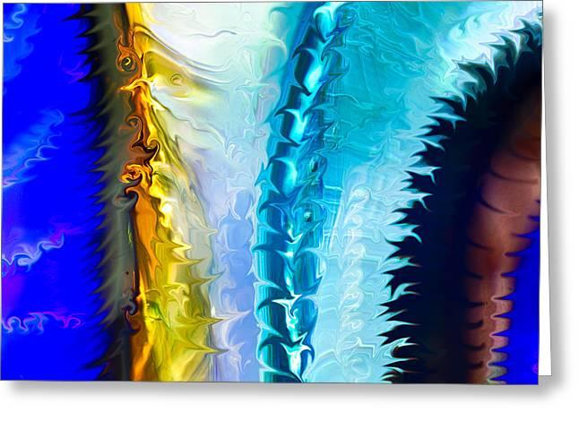 Cosmic Zipper Greeting Card by Omaste Witkowski
