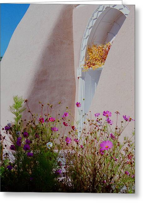 Cosmos At The San Francisco De Asis Church Greeting Card