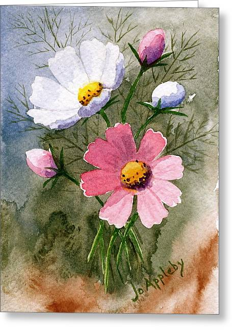 Cosmos Blooms Greeting Card