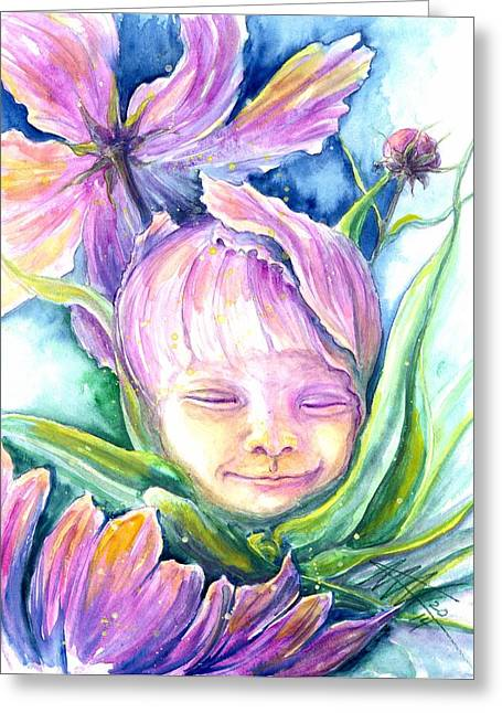 Cosmos Bud Greeting Card