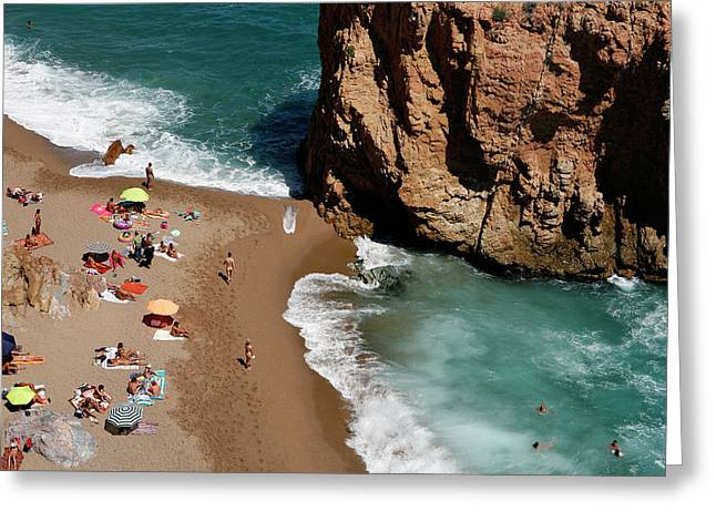 Costa Brava Greeting Card by Lucas Vallecillos