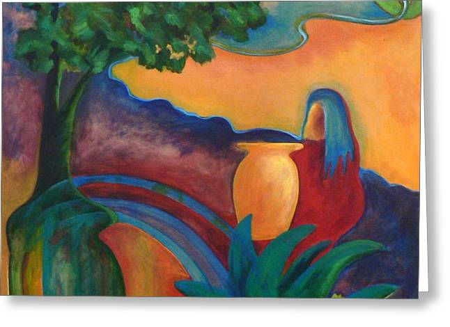 Costa Mango II Greeting Card by Elizabeth Fontaine-Barr