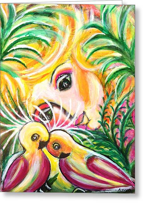 Greeting Card featuring the painting Costa Rica by Anya Heller