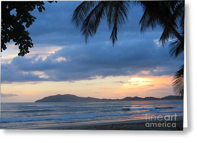 Greeting Card featuring the photograph Costa Rica Sunset by Shelia Kempf