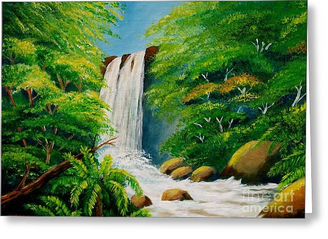 Costa Rica Waterfall Greeting Card