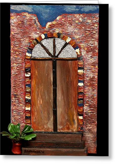Costa Rican Doorway Greeting Card