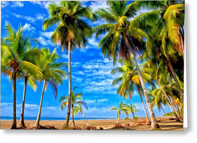 Costa Rican Paradise Greeting Card by Michael Pickett