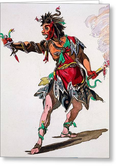 Costume Design For A Fury Greeting Card