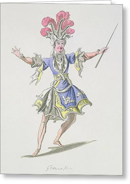 Costume Design For The Magician Greeting Card by French School