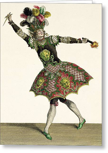 Costume For A Demon In Armide, Psyche Greeting Card
