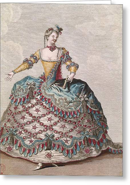 Costume For An Indian Woman For The Opera Ballet Les Indes Galantes By Jean-philippe Rameau Greeting Card