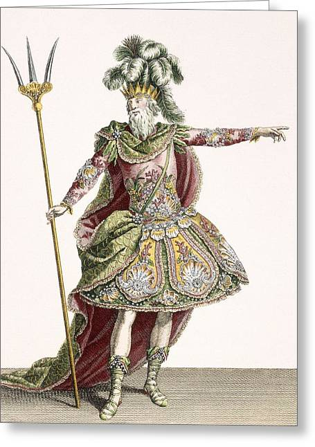 Costume For Neptune In Several Operas Greeting Card by Jean Baptiste Martin