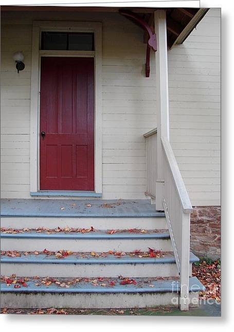 Cozy Cottage Door Greeting Card