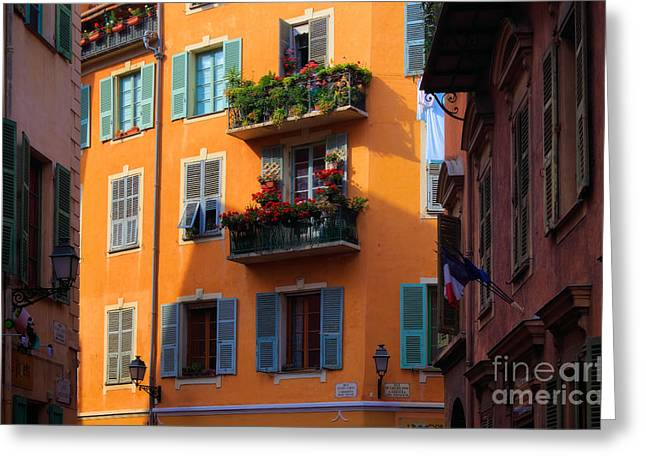 Cote D'azur Alley Greeting Card by Inge Johnsson