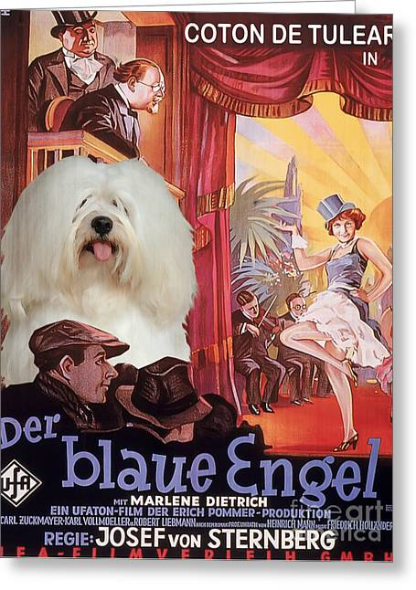 Coton De Tulear Art - Der Blaue Engel Movie Poster Greeting Card