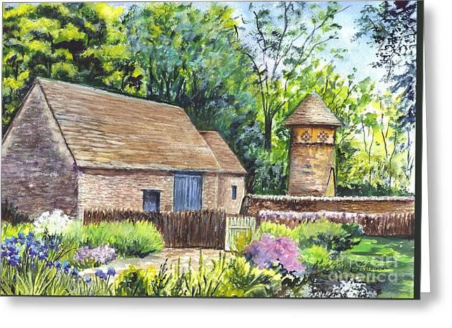 Cotswold Barn Greeting Card by Carol Wisniewski