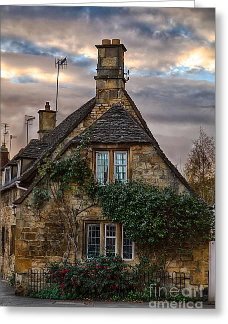 Cotswold Cottage Greeting Card by Jennifer Styrsky