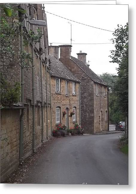 Cotswold Cottages Greeting Card by John Williams