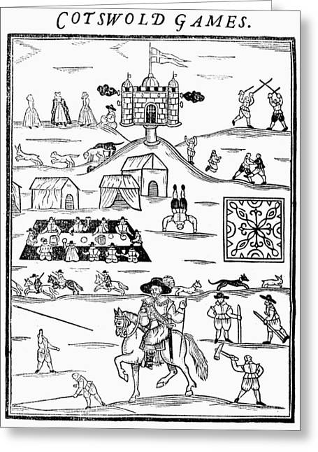 Cotswold Games, 1636 Greeting Card