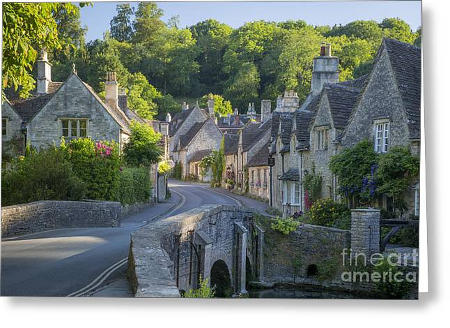 Greeting Card featuring the photograph Cotswold Village by Brian Jannsen