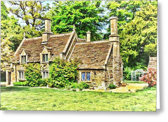 Greeting Card featuring the photograph cottage at Bowood-01 by Paul Gulliver