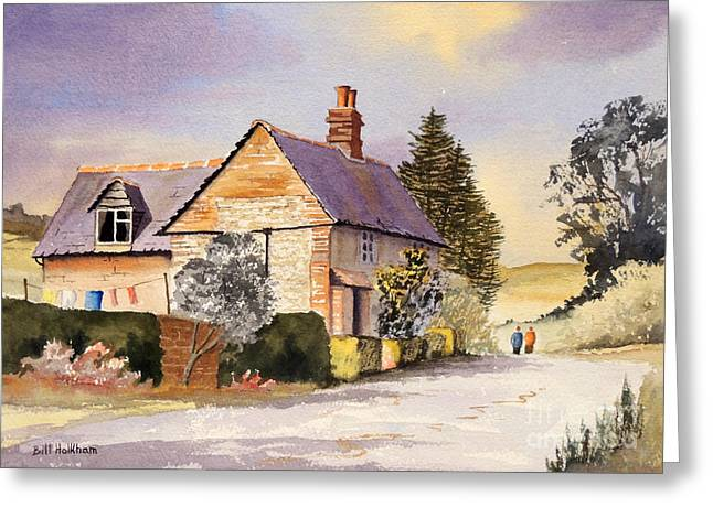 Cottage At Coleshill Village Greeting Card by Bill Holkham