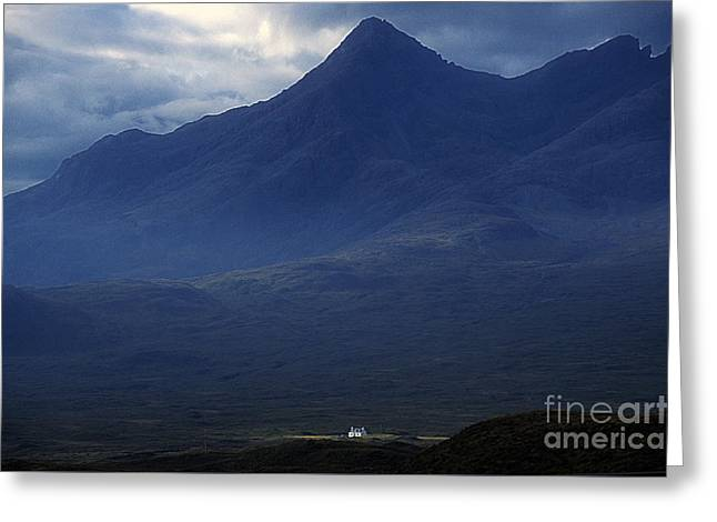 Cottage Below Sgurr Nan Gillean - Isle Of Skye Greeting Card