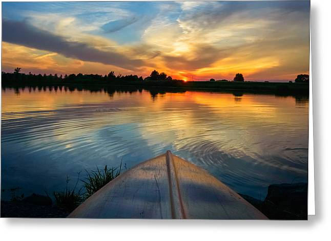 Greeting Card featuring the photograph Cottage Country's Silhouette by Garvin Hunter