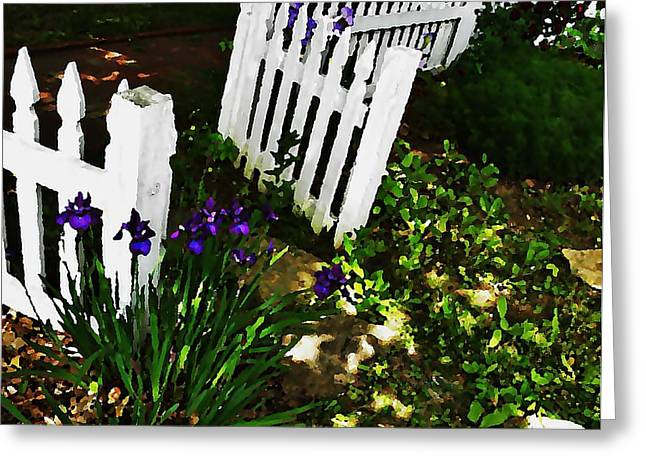 Cottage Entry  Greeting Card by Chris Berry