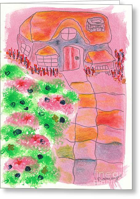 Cottage Et Jardin / Cottage And Garden Greeting Card by Dominique Fortier
