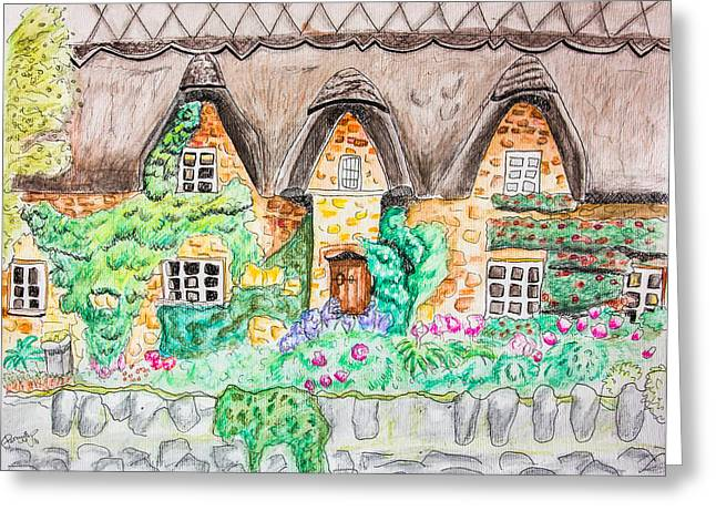 Cottage Front Greeting Card by Pati Photography