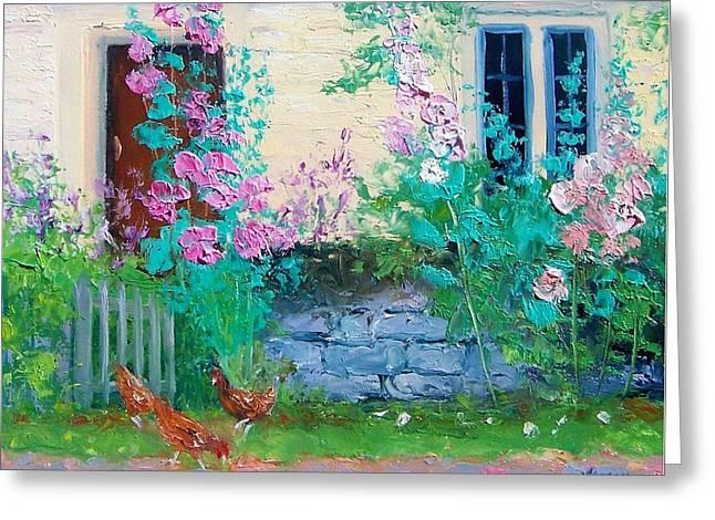 Cottage Garden By Jan Matson Greeting Card by Jan Matson