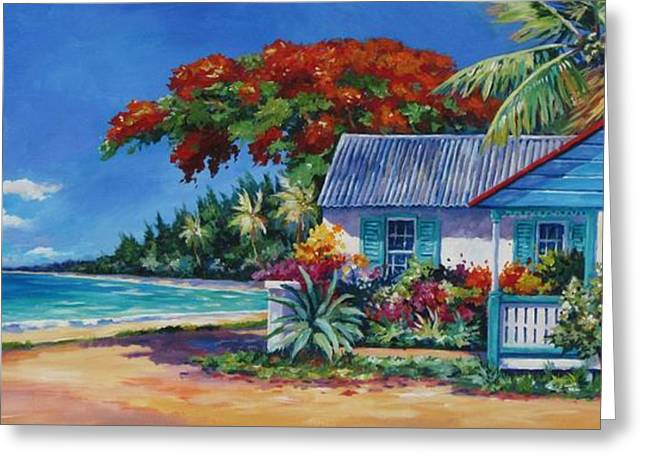 Cottage On 7-mile Beach Greeting Card by John Clark