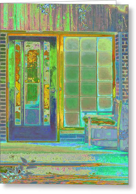 Cottage Porch Greeting Card by Don and Judi Hall