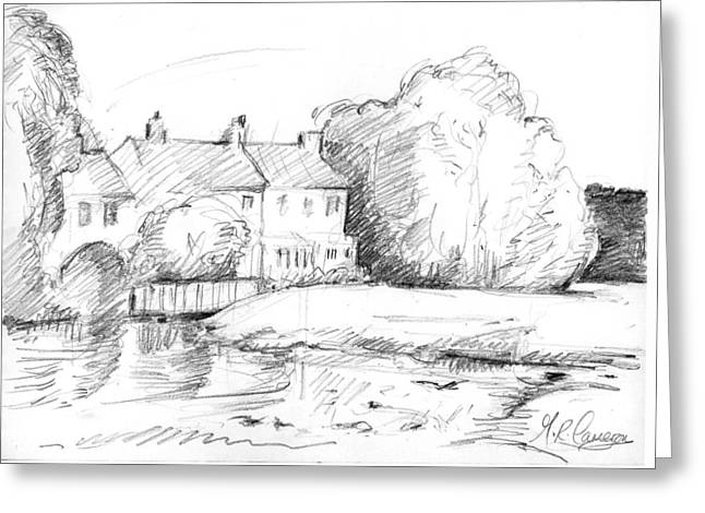 Cottages By The Mill Greeting Card