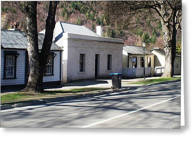 Cottages Of Arrowtown Greeting Card by Therese Alcorn
