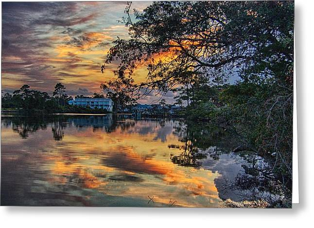 Cotton Bayou Sunrise Greeting Card by Michael Thomas