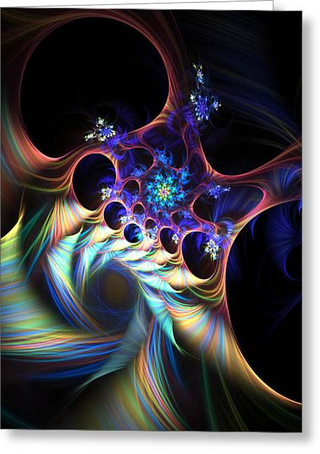 Greeting Card featuring the digital art Cotton Candy 2 by Arlene Sundby