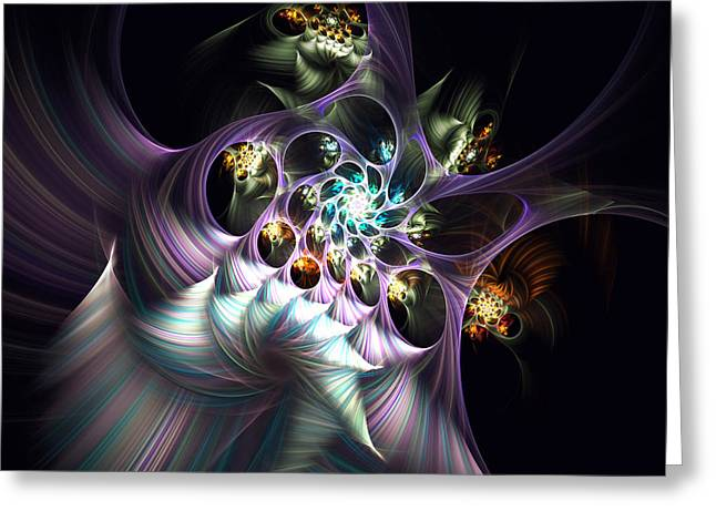 Greeting Card featuring the digital art Cotton Candy by Arlene Sundby