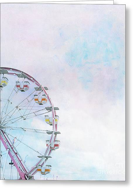 Cotton Candy Ferris Wheel Greeting Card by Kay Pickens