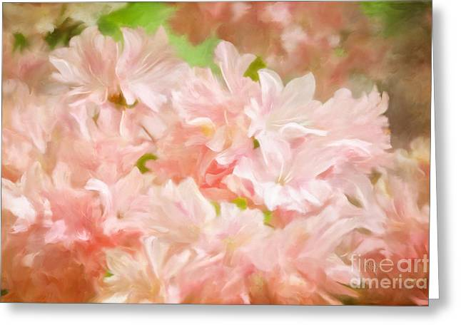 Cotton Candy Pink Azaleas Greeting Card by Lois Bryan