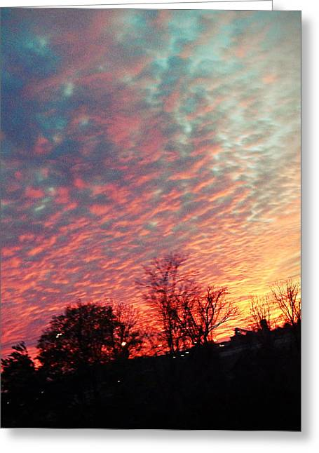 Cotton Candy Sky Greeting Card by Joetta Beauford